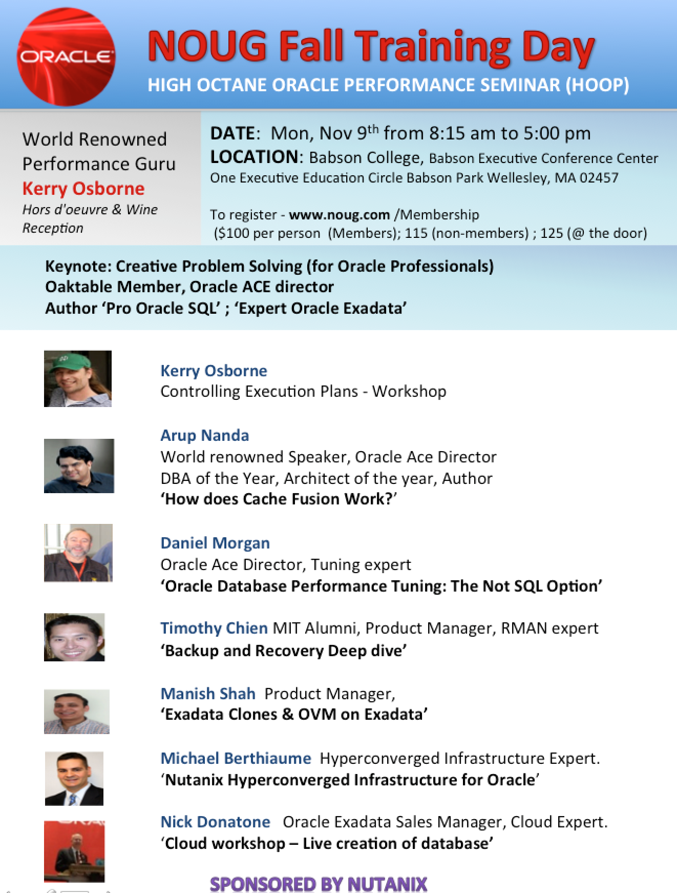 NOUG Fall Training Day